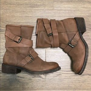 Lucky Brand Moto Double Buckle Boots